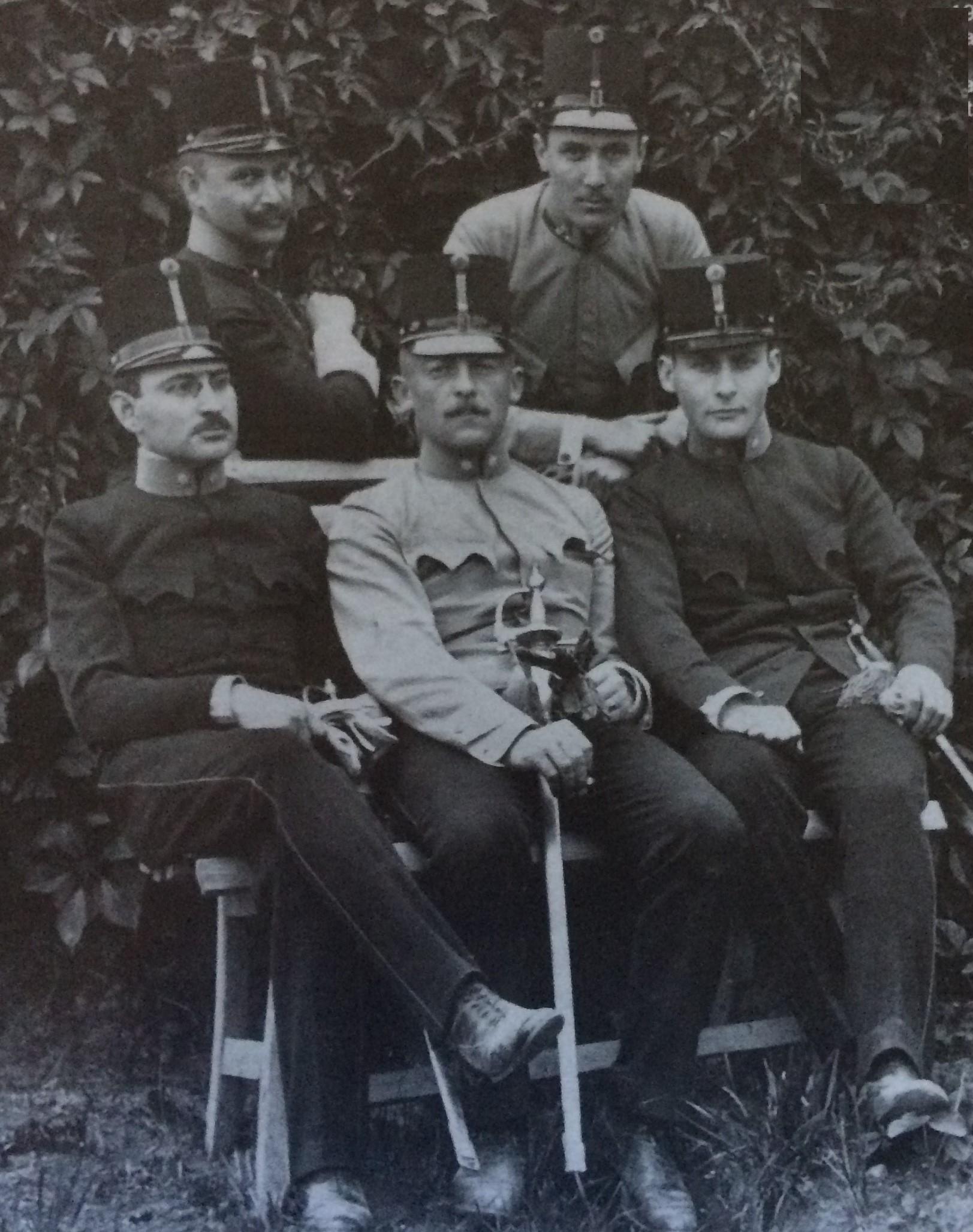 1912 Hermann Riesenfeld con altri ufficiali austroungarici