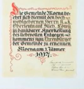 1916 cittadinanza onoraria SOLO TESTO